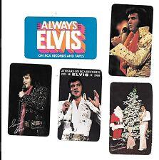 Elvis Presley 1976-1980 Calendar Card Lot (5)