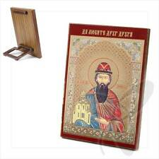 Icona SANTO Vsevolod legno 8x6 Святой Всеволод икона