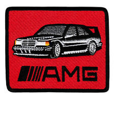 Vintage Style AMG Sports Car Racing Shirt Patch Badge 8.5cm