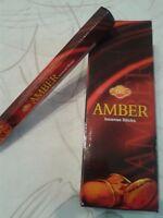 1 por 20  stick ambar/amber sac varillas, hexagonal