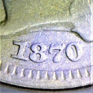1870/1870 Three Cent Nickel; FS-101, Repunched Date; Nice VF