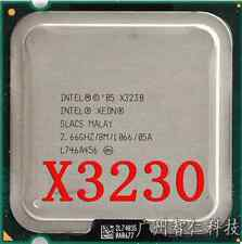 Free shipping Intel Xeon X3230 quad-core CPU clocked at 2.66GHz slacks 8MB1066MH