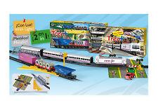 Tren Electrico Metalico RENFE con LUZ de Viajeros y Mercancias 905