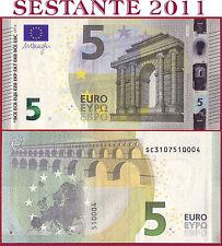 """(com) EUROPEAN UNION - ITALY 5 EURO 2013 Sign DRAGHI  """"SC""""  S002C4 - P 20s - UNC"""