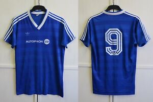 RARE! Adidas West Germany Vintage Jersey 80's Retro Blue Shirt Trikot Kit Size L