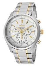 Seiko Chronograph SRW005 SRW005P1 Men 24-Hour White Dial Stainless Steel Watch
