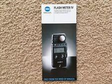 Minolta Flash Meter IV Product Brochure Pamphlet