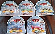 DISNEY PIXAR CARS 2013 5 CAR EYES CHANGING CHRISTMAS SET-FABULOUS HUDSON HORNET,