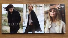 Lot of 3 POETRY - WRAP LONDON Catalogs gorgeous style inspiration classic