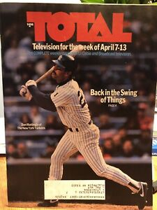 Don Mattingly New York Yankees Total Cable Guide April 7, 1991