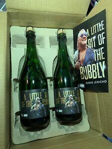 AEW Chris Jericho LITTLE BIT OF THE BUBBLY Champaign Bottle FLYER & CORK