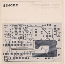 Singer Touch Tronic 2000 Sewing Machine Manual PDF FORMAT