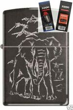 Zippo 1615A Elephant Licorice Lighter with *FLINT & WICK GIFT SET*