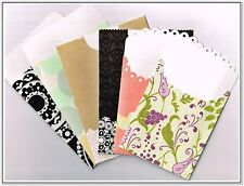 DCWV Fancy Small ENVELOPES 6 pcs different sizes NEW
