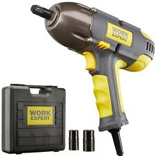 Work Expert 210W Corded Electric Vehicle Impact Wrench Driver & Socket Kit 500Nm