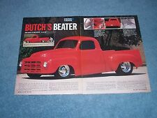 "1946 Studebaker Pickup Truck Street Rod Article ""Butch's Beater"""