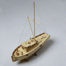 Wooden Sailing Boat 3D Model DIY Kits Educational Assembly Ship Toy Home Decor