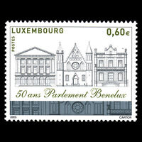 Luxembourg 2005 - 50th Anniv the Benelux Parliament Architecture - Sc 1157 MNH