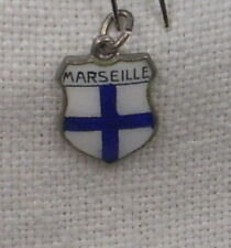 Vintage REU Sterling/Enamel Marseille, France Charm - New