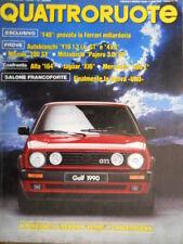 Quattroruote 407 1989 Poster Fiat Uno 70 SX i.e. Ferrari F40. Alfa 164 [Q.8]