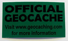 10 x Cache stickers for Geocaching black print on green sticker