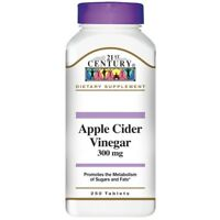 21st Century APPLE CIDER VINEGAR 300 mg 250 Tablets HEALTH TONIC METABOLISM NEW