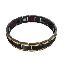 Magnetic Hematite Copper Bracelet Men's Health Bracelets with Hook Buckle Clasp