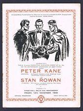 RARE 1948 PETER KANE ROWAN boxing program TOMMY FARR Hill Exley Dilks Buxton
