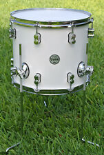 "PDP by DW 14"" CONCEPT MAPLE PEARLESCENT WHITE FLOOR TOM for YOUR DRUM SET! #B546"
