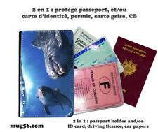 dauphin dolphin #03 protège carte grise identité permis passeport passport cover