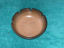 """Heath Ceramics Ashtray Grainy Browns California Art Pottery 6 5/8"""" USA Made"""