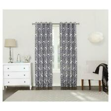 Sun Zero Cynthia Woven Damask Blackout Lined Grommet Curtain Panel