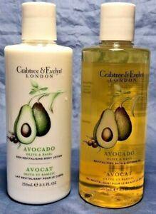 CRABTREE & EVELYN~Avocado Olive & Basil~BODY LOTION OR BATH SHOWER GEL~8.5 oz
