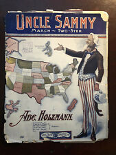 UNCLE SAMMY MARCH TWO - STEP BY ABE HOLZMANN 1904 SHEET MUSIC