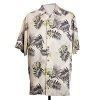 Tommy Bahama Mens L Floral Beach Camp Hawaiian 100% Silk Shirt