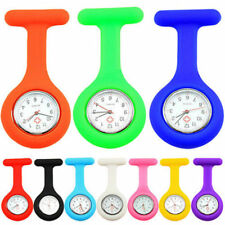 NURSES FOB WATCH Brooch Pin Free Battery Silicone Choice of 10 Colours