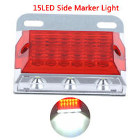 15LED Side Marker Light Clearance Lamps Red Truck Trailer Tractor 12V  Px