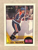 1987-88 OPC #7 Esa Tikkanen Rookie RC OILERS O-Pee-Chee Hockey Cards