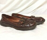 Women's BORN Brown Leather Slip-On Shoes Size 8.5 Nice comfortable