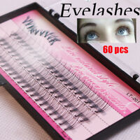 10D 0.10 Thickness C Curl Black Mink Cluster Eye Lashes Grafting False Eyelashes