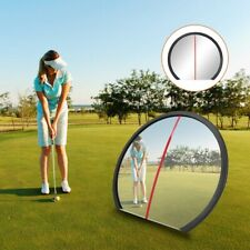 Golf Wide Angle Convex Mirror Full Swing & Putting Golf Training Aid New Fa