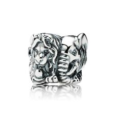 * Pandora Safari 791360 Lion Elephant Cheetah ZOO Africa Charm w Gift Pouch