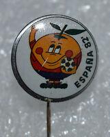 Spain Espana 82 FIFA Football World Cup Soccer Mascot Naranjito vtg pin badge