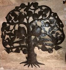 Tree of Life, Metal Sculpture Haiti Handmade One Of A Kind Signed Jose Delpé