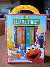 Sesame Street Book Block Library Box Set of 10 Board Books Book Block in case
