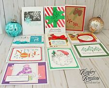 CHRISTMAS GREETING CARDS Handmade Lot of 10 Stampin Up & More! HOLIDAY New