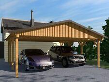 Carport (Satteldach) MONZA III 600x700cm, Bausatz