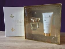 Laura Ashley Pink Petals Eau De Parfum Gift Set. Perfume & Body Lotion Fragrance