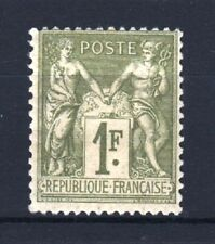"FRANCE STAMP TIMBRE YVERT N° 82 "" SAGE 1F OLIVE CLAIR 1883 "" NEUF xx LUXE T062"