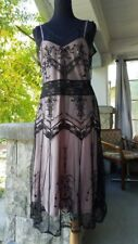 diane von furstenberg black and nude lace dress size 12 for special occasion